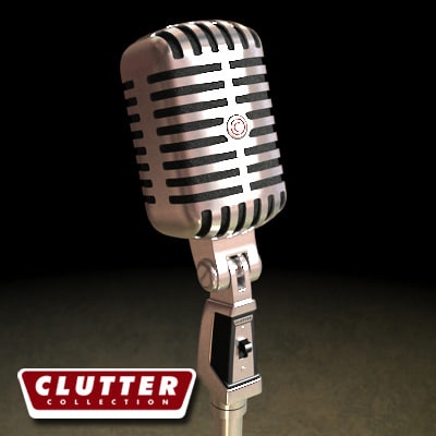 3dsmax microphone clutterelectronics clutterretro