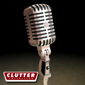 3dsmax microphone clutterelectronics clutterretro