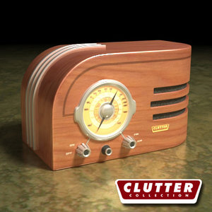 3ds max radio clutterelectronics clutterretro