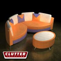 retro couch 3ds