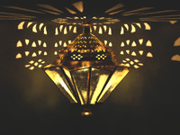 Sevilla Amber Lantern.max