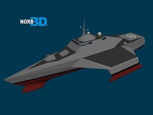 3d model stealth frigate