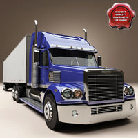 3d freightliner coronado trailer