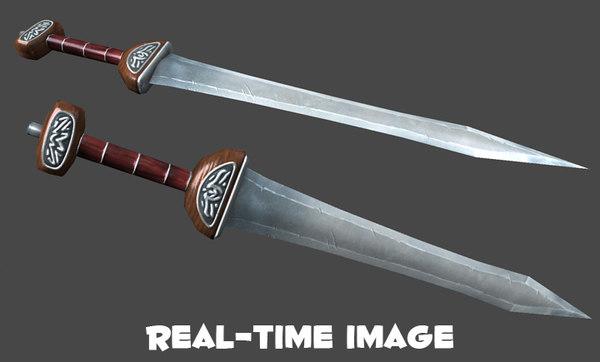 gladius sword 3d obj