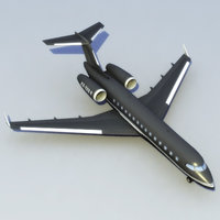 3d model bombardier global express xrs