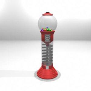 3d model of machine gum ball