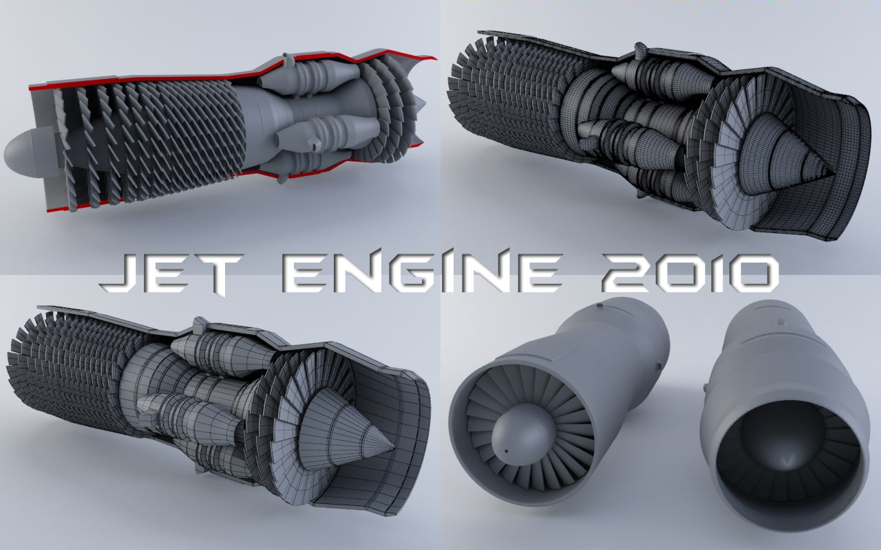 jet engine 3d 3ds