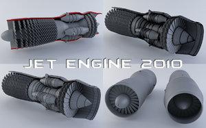 jet engine 3d 3ds