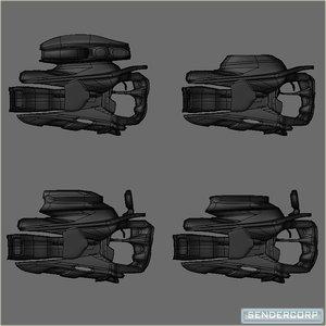 3d model set hf nu blasters