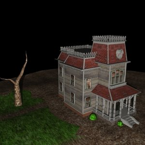 max3 psycho house scene 3d model