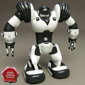 3d robot toy robosapien static model