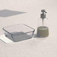 soap dispenser glass bowl 3ds
