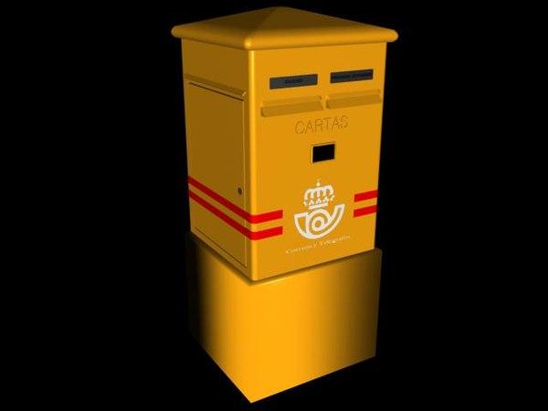 spanish mailbox 3d model