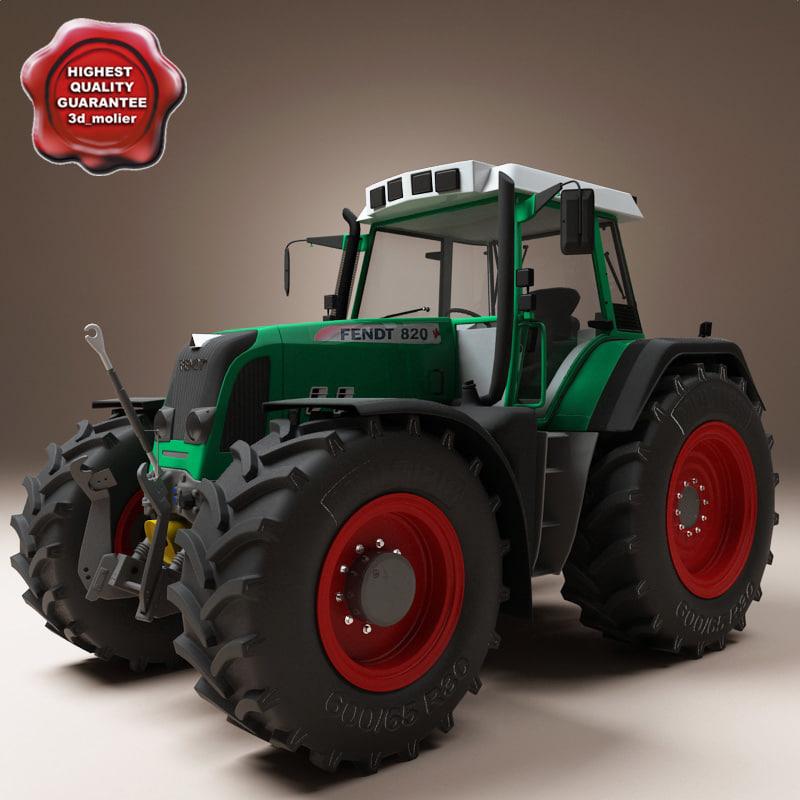 3ds max tractor fendt 820
