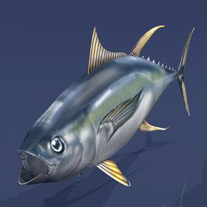 3d tuna fishing model