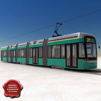 city transport tram variotram 3d model
