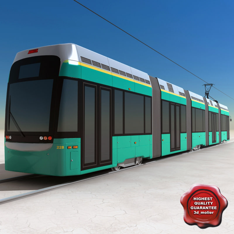 3d city transport tram variotram model