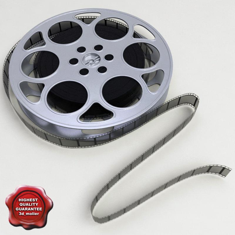 3d model video film reel v2