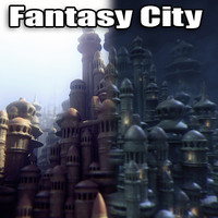 fantasy city 3d model