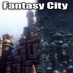 fantasy city 3d model