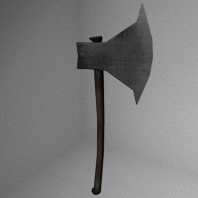 3d axe cutting model