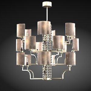 3d baga bespoke chandelier model