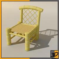 3d handmade bamboo chair model