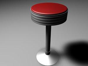 bar chair 3d c4d