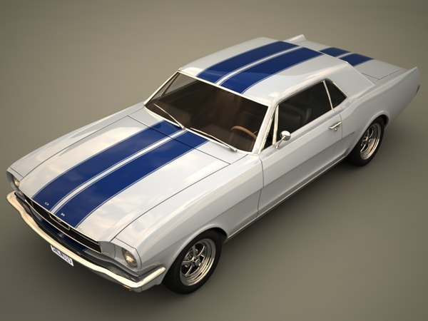 3ds max muscle car coupe