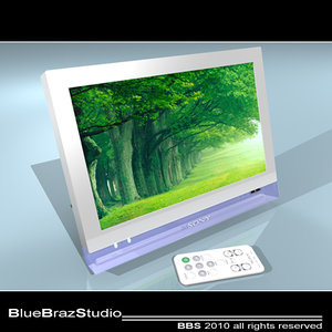 3d c4d digital photo frame