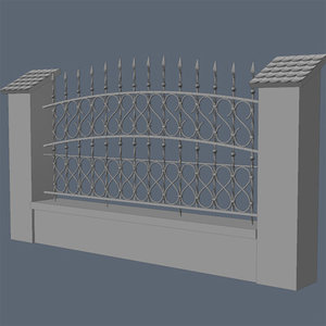 3d model fence exterior visualization