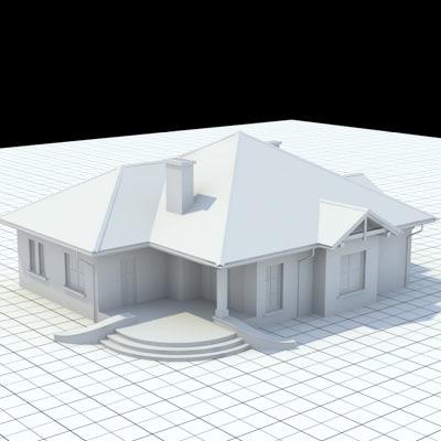 3d model single-family house