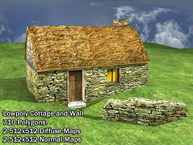3d rural cottage medieval model