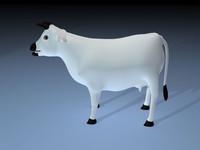 3d cow model