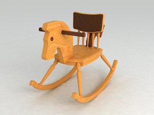 rocking horse 3d 3ds