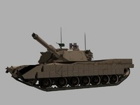 M1A2 TUSK Abrams Tank Game Ready Model