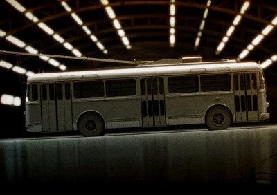 3d model trolley bus