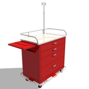 3d medical cart model