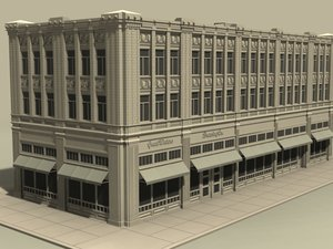 3d office block model