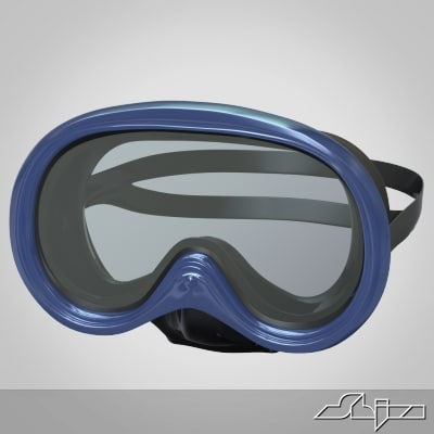 3ds max scuba mask