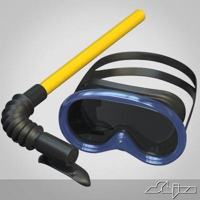 scuba mask snorkel 3ds