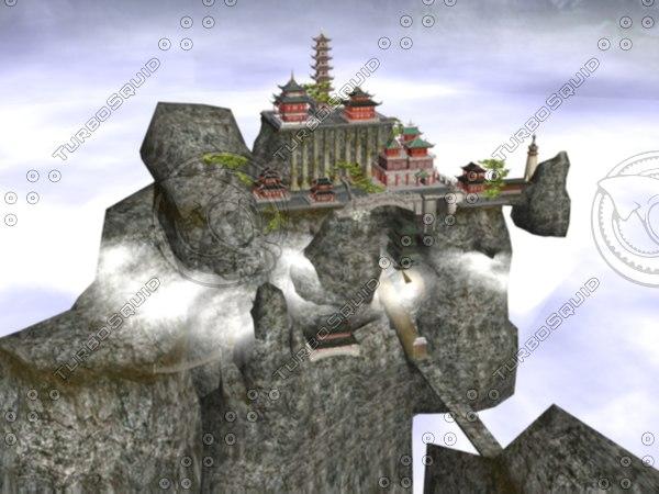 3dsmax chinese mountain