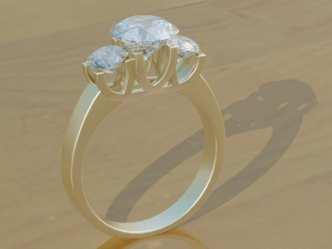 3d model of diamond ring