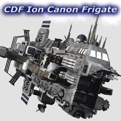 3d model ion canons frigates cdf