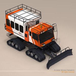 bres400 snowcat passenger snow 3d model