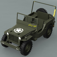 ww2 willys jeep 3d model
