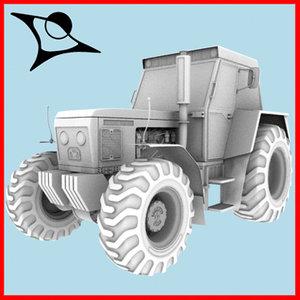 tractor zetor 3d model
