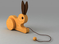 Wooden toy bunnny