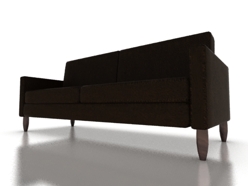 two-seater sofa seat 3ds