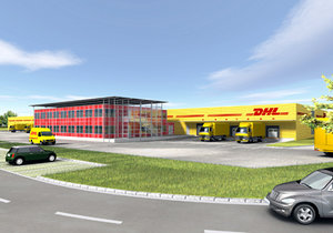 logistic center 3d model